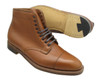 Alden Men's Straight Tip Boot Burnished Tan Calfskin #3914
