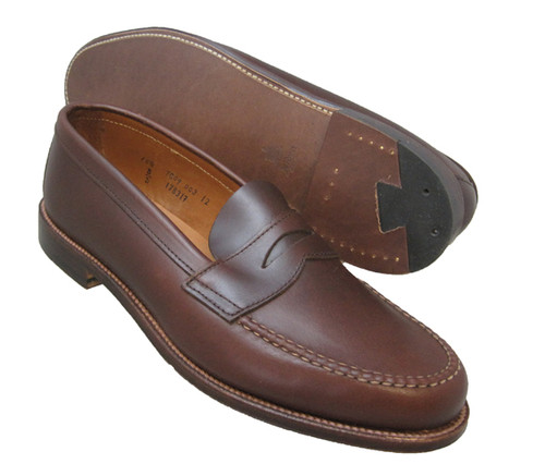 Alden Penny Loafer with Unlined Vamp Brown Aniline Leather #17831F