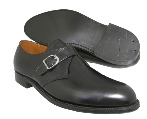 Alden Monk Strap Black Calfskin Slip On #955