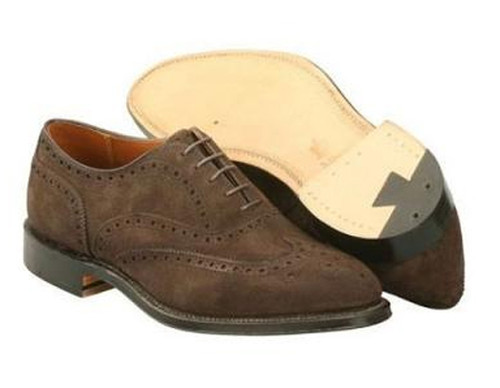 Alden  Wing Tip Bal Dress oxford mocha brown suede