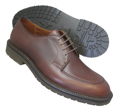 Alden Mocc Toe Blucher Brown Aniline Pull-Up #7118S