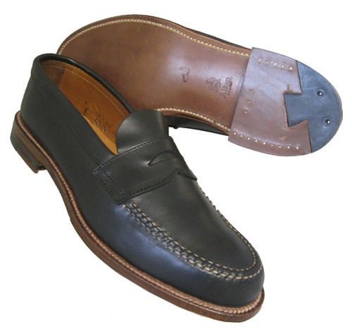 Alden Penny Loafer with Unlined Vamp Black Aniline Leather #17837F