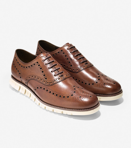 Cole Haan ZERØGRAND Wingtip Oxford British Tan
