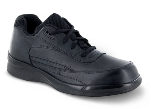 Apex Men's Lace Active Walker Black Leather
