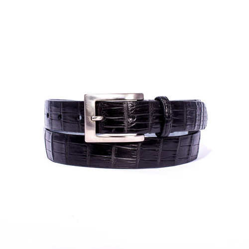 Zelli Nile Crocodile Belt Black