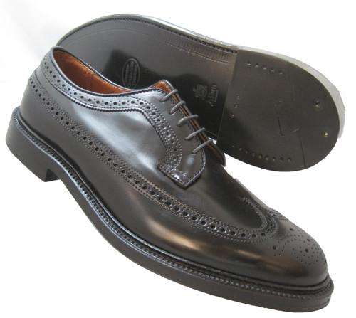 Alden  Long Wing Blucher Oxford Black Genuine Shell Cordovan #9751