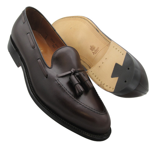 Alden Men's Tassel Moccasin Dark Brown Calfskin #561