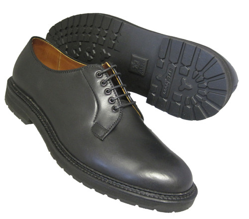 Alden Plain Toe Blucher Black Aniline #9435S