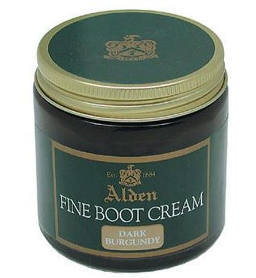 Alden Fine Boot Cream Dark Burgundy