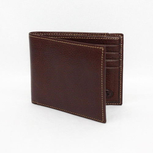 Torino Tumbled Leather Billfold Wallet Brown