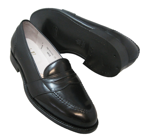 Alden Full Strap Slip-On Loafer Black Shell Cordovan #6845