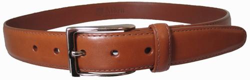 Alden 30mm Tan Calfskin Dress Belt With Nickel Buckle #0113