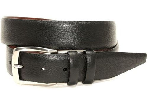 Torino XL Pebble Grained Calfskin Belt Black