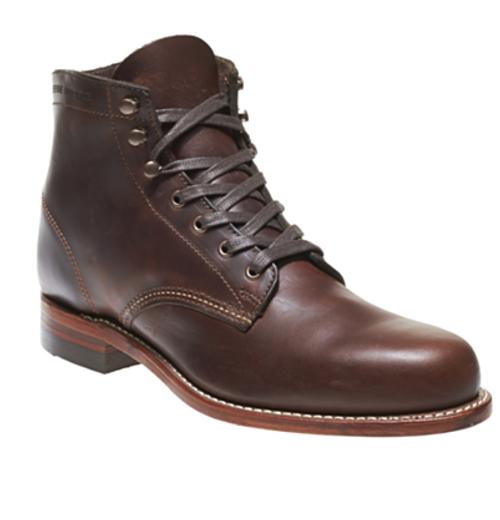 4ebf04141dd Wolverine - Men's Evans Stone Leather Boot w/ Vibram Sole