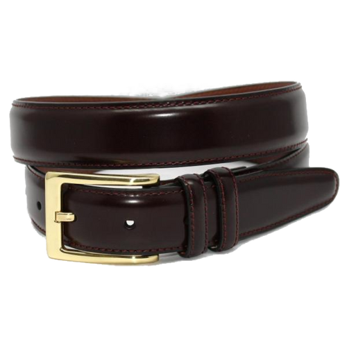 Torino Antigua Leather Cordovan Belt Burgundy