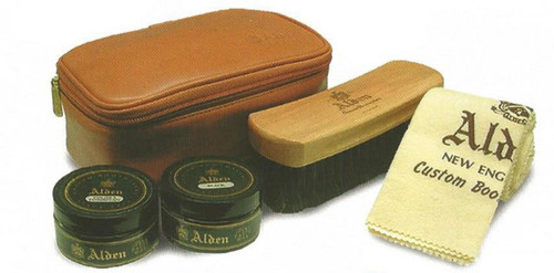 Alden Leather Travel Kit  Tan