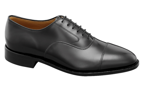 Johnston & Murphy Men's Melton Cap Toe Black Calfskin