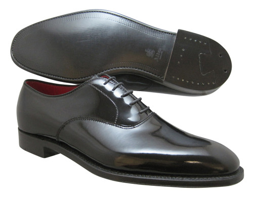 Alden Bal Black Patent Leather with Red Kidskin Linings #9373