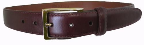 Alden 30mm Calfskin Dress Belt Brown With Gold Buckle #0105