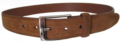 Alden Suede 35 mm Calfskin Belt Snuff with Nickel Buckle #5214