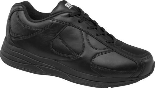 Drew Men's Surge Black All Leather Sneaker