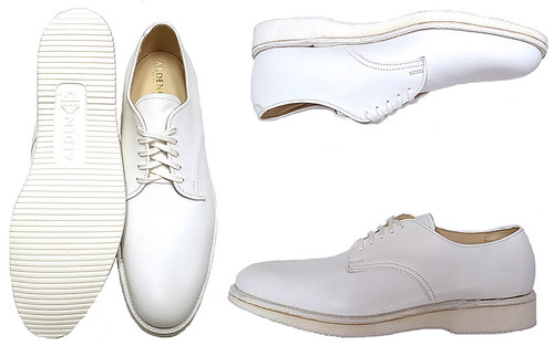 Alden Plain Toe Blucher Oxford White Comfort Oxford