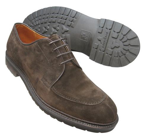 Alden Mocc Toe Blucher Dark Brown Suede #7119