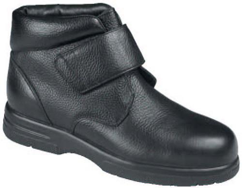 Drew Men's Big Easy Velcro Pebbled Leather Boot Black