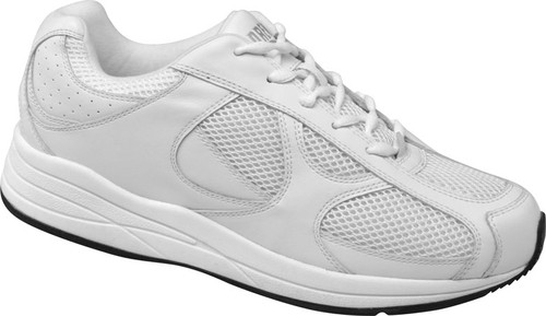 Drew Men's Surge White Leather and Mesh Athletic Sneaker