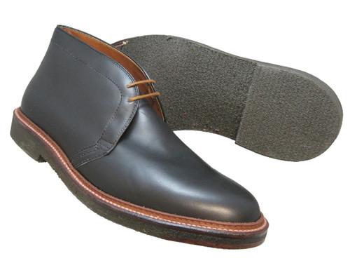 Alden Chukka Boot Black Calfskin #1247