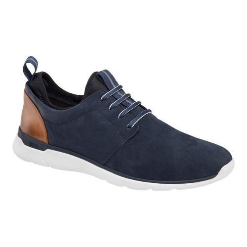 JOHNSTON & MURPHY PRENTISS PLAIN TOE XC4 navy  WATERPROOF TUMBLED NUBUCK