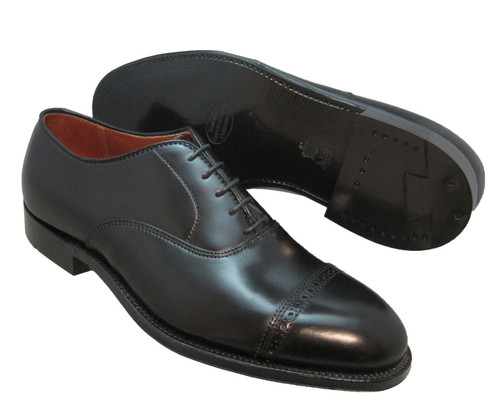 ALDEN Black SHELL CORDOVAN PERFORATED CAP TOE BAL OXFORD #9016