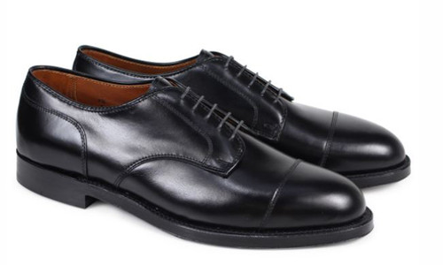 Alden Men's Straight Tip Blucher Black Calfskin #971