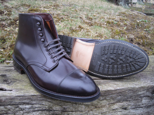 Alden Color 8 Shell Cordovan Cap Toe Boot with Commando Sole-deposit only