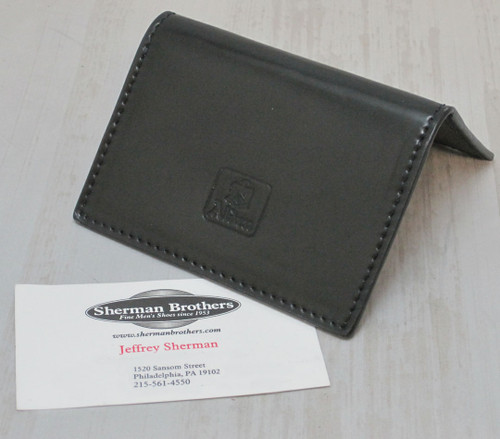 Alden Folding Business Card Black Shell Cordovan