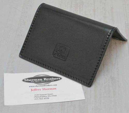 Alden Folding Business Card Black Shell Cordovan