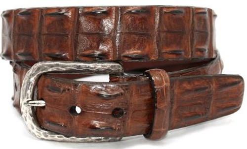 Torino Genuine Hornback Crocodile Belt Cognac