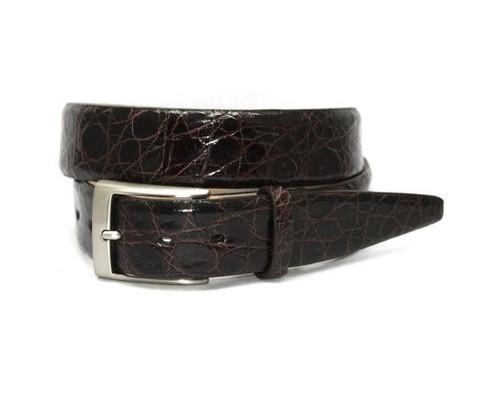 Torino XL Glazed South American Caiman Belt Brown