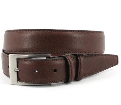 Torino XL Soft Deertan Glove Leather Belt Chestnut