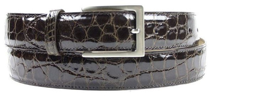 Zelli Alligator Belt Brown