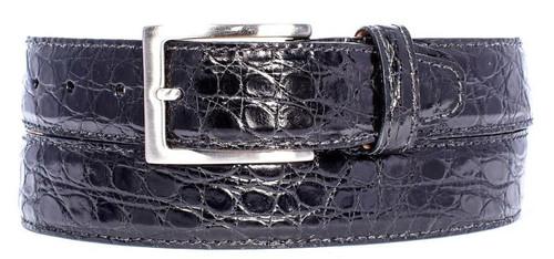 Zelli Crocodile Belt Black