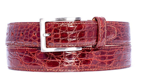 Zelli Crocodile Belt Cognac