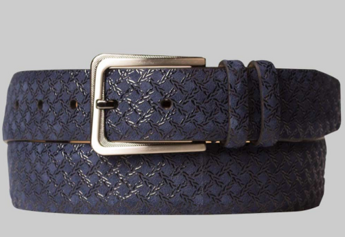 Mezlan Blue Fashion Suede Belt