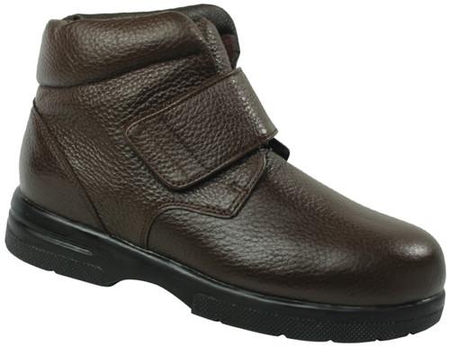 Drew Men's Big Easy  Velcro Pebbled Leather Boot Brown