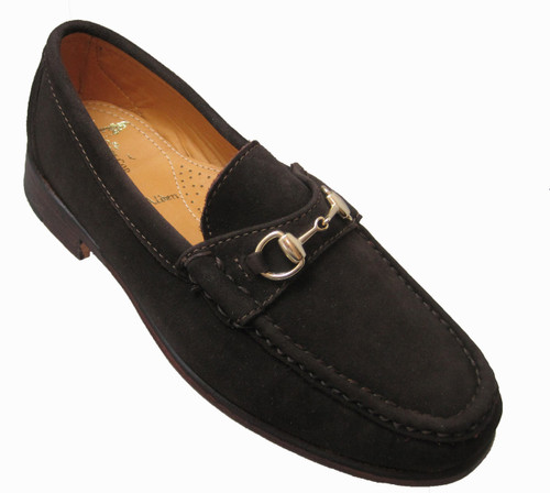 Alden Cape Cod Horse Bit Loafer Dark Brown Suede #H4685