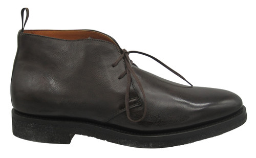 Santoni Que Dark Brown Good Year welt Chukka boot with Plantation crepe sole