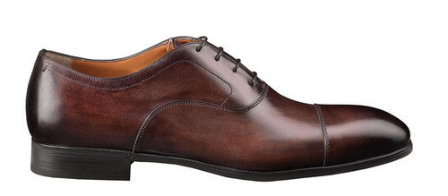 Santoni ethan dark brown lace oxford