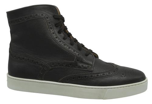 Santoni Cornell Dark brown High top sneaker