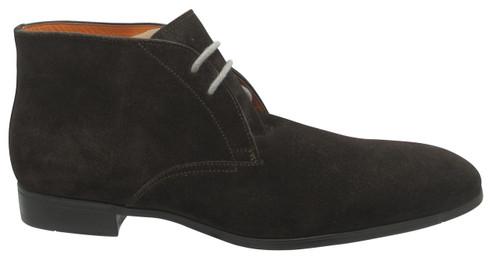 Santoni Harper dark brown suede chukka boot