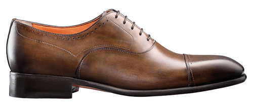 Santoni Thurman Brown cap toe bal oxford